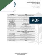 List of Club Presidents