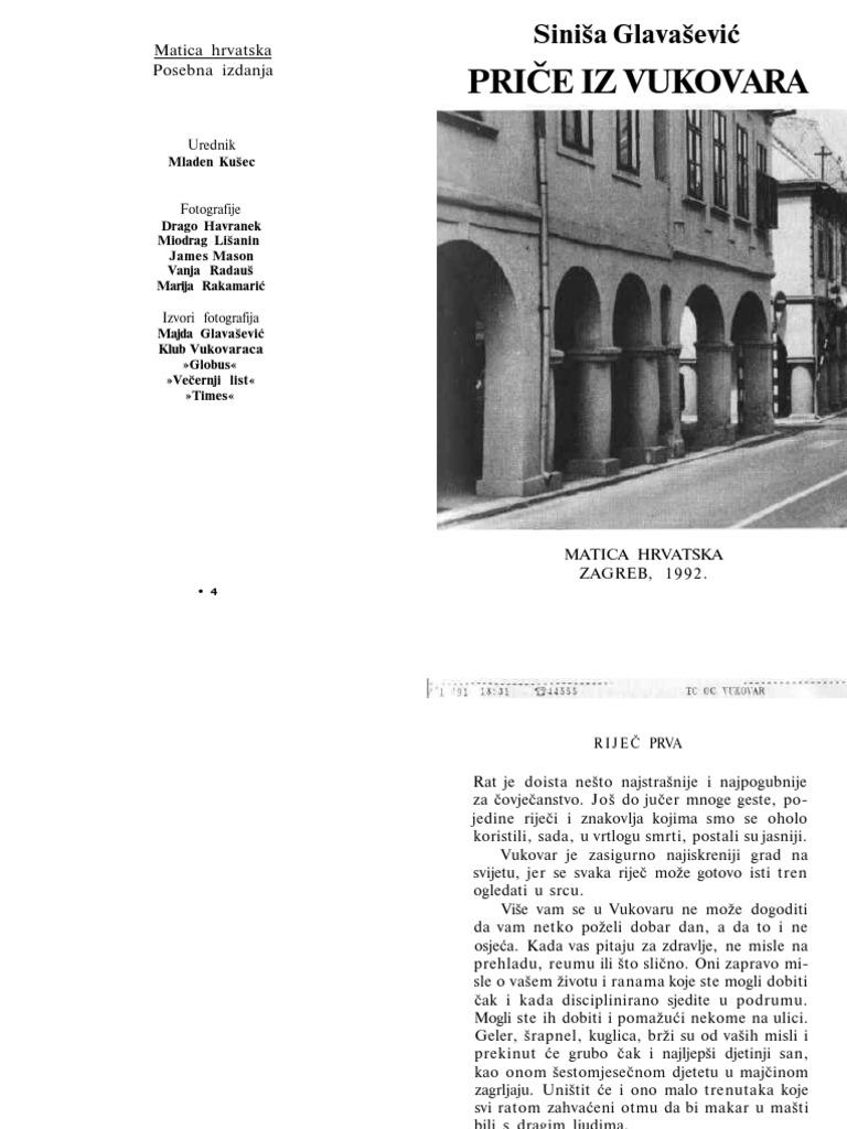 siniša glavašević priče iz vukovara