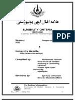 Eligibility Criteria Spring-13