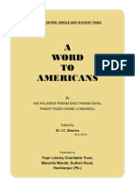 A Word to Americans by Faqir Chand