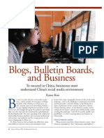 Blogs Bulletin Boards and Business
