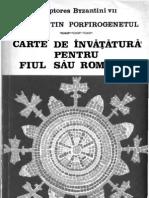 C-Tin Porfirogenetul - Carte de Invatatura Catre Fiul Sau, Romanos (1971)
