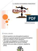 Class_4 Ethical Issues in Business Research