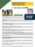 Programa Marcha via Plata 07/03/2009