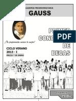Concurso de Becas Gauss (2)