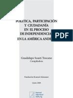 Política participación y ciudadanía en el proceso de independencias