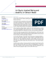 Fitch - Equity Implied Rating