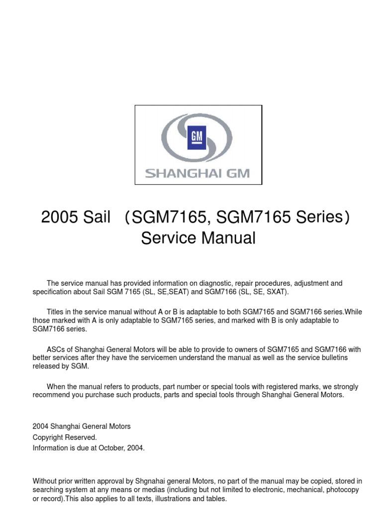 manual chevrolet sail electrostatic discharge tire rh scribd com Service Manuals Operators Manual