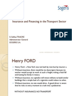 Insuring and financing transport