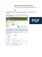 Manual de Instalación del aplicativo Voto Electronico