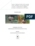 Mitigation of Human – Elephant Conflict (HEC) through