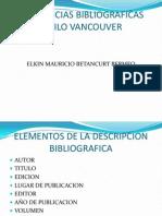 Referencias Bibliograficas Vancouver