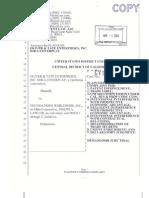 Oliver and Tate Enterprises v. Foundation Worldwide et. al.