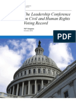 Leadership Conference on Civil and Human Rights - Voting Record 112 Congress