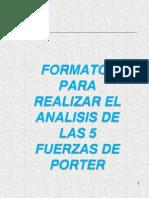 Formato para realizar análisis de las 5 fuerzas de porter.ppt