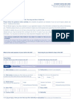UK student visa form