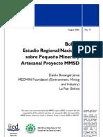 Bolivia Estudio Regional/Nacional sobre Pequeña Mineria y Artesanal Proyecto MMSD
