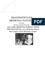 Diagnostico en Medicina Natural