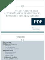 3d Signature for Efficient Authentication in Multimodel Biometric