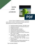 Sistemul de Operare ANDROID