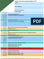 Cronograma académico y docente de la Escuela de Idiomas Modernos UCV