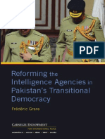 Reforming the Intelligence Agencies in Pakistan's Transitional Democracy