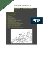 Apostila ou manual de operação para operadores de retroescavadeira