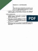 Seminário VII - Contribuições