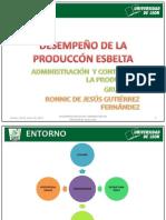 EXPO DESEMPEÑO DE PRODUCCIÓN ESBELTA ronnic
