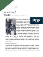 De Castro a Gomez