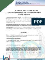 Edital de eleicão para GME 2013-2015