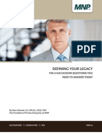 DEFINING YOUR LEGACY