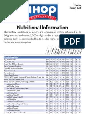 Ihop Nutritionalinformation Pancake Salad