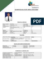 Sea Staff Application Form