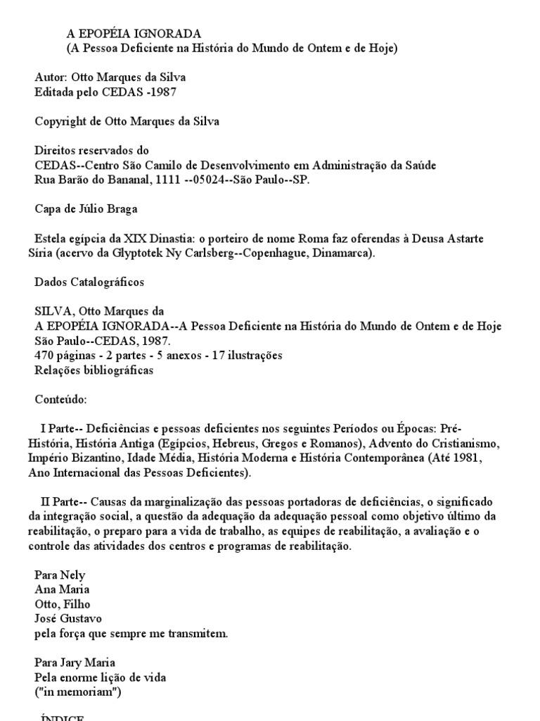 A Epopéia Ignorada - Oto Marques da Silva - corrigido 5324959fb5