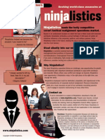 """Work at Ninjalistics"" job flyer"