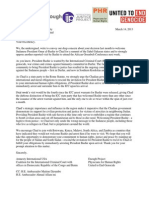 Joint Letter to Chad Pres Deby on Bashir's Visit