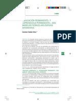 Educación permanente y aprendizaje permanente dos modelos teórico-aplicativos diferentes. Sabán,C.pdf