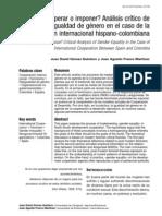 Análisis crítico de la igualdad de género en el caso de la cooperación internacional hispano-colombiana