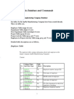 SQL Lab Document 1 Oracle Database and Commands Spring 13