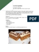 Prăjitură RALUCA cu foi de napolitane
