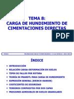 Tema 08 - Carga de Hundimiento Cimentaciones Superficiales