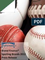 Brand Finance Sporting Brands 2012