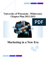 University of Wisconsin - Whitewater, 2012-2013 Chapter Plan