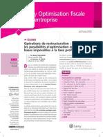 070131 Operations de Restructuration BT MLT Lamy Optimisation Fiscale 01
