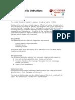 Learner Portfolio Instructions