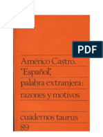 Castro, A. - Español palabra extranjera
