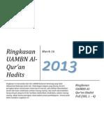 Ringkasan UAMBN Qur'an Hadits MAN 2013
