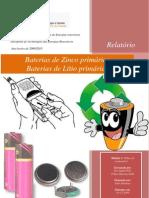Relatório Baterias de Zinco primárias Baterias de Lítio primárias
