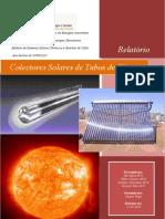 Relatório Colectores Solares de Tubos de Vácuo